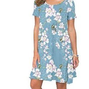Dresses & Skirts - Women's Summer Casual T Shirt Dresses Short Sleeve